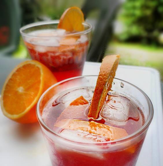 due spritz con arancia